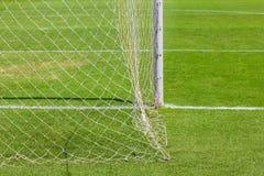 Bak målet för fotboll (fotboll) Arkivfoton