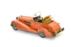 bak model oldtimerred Arkivfoton