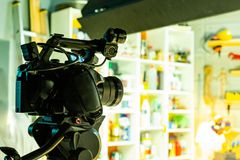 Bak platserna av video produktion- eller videoskytte royaltyfria bilder