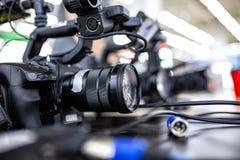 Bak platserna av video produktion- eller videoskytte E royaltyfri foto