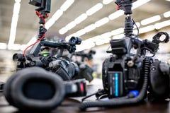 Bak platserna av video produktion- eller videoskytte E royaltyfri fotografi