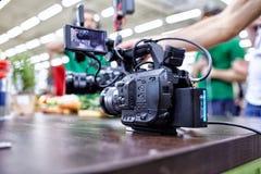 Bak platserna av video produktion- eller videoskytte E arkivfoton