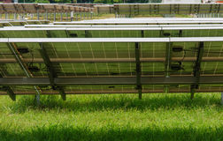 Bak solpaneler Fotografering för Bildbyråer