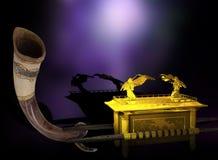 Bak van de Overeenkomst s Shofar Royalty-vrije Stock Afbeeldingen