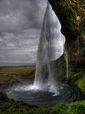 bak vattenfallet Arkivfoto