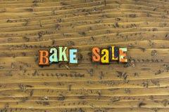 Bak verkoopreclame royalty-vrije stock fotografie
