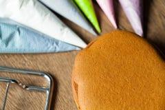 Baka attraktion på bakning, modeller arkivfoto