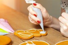 Baka attraktion på bakning, modeller fotografering för bildbyråer