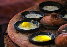 Baka ihop (banh kan), kan vietnamesisk kokkonst Royaltyfri Foto