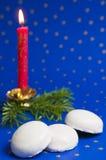 baka ihop candlelightjul Royaltyfri Bild