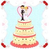 baka ihop romantiskt bröllop Royaltyfria Bilder