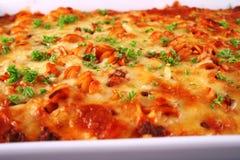 baka upp tät pasta Royaltyfria Bilder