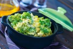 Bakad broccoli Arkivfoto