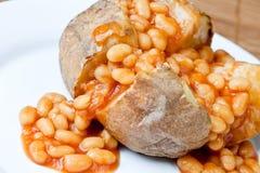 bakad crispy varm potatis royaltyfri foto