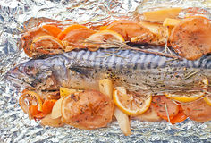 Bakad fisk Arkivbild