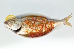 Bakad fisk Arkivfoton
