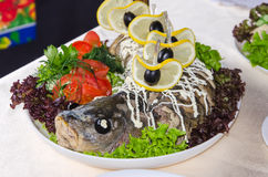Bakad fisk Royaltyfri Fotografi