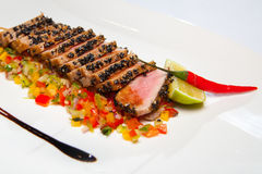 Bakad fransyska av tonfisk royaltyfri foto