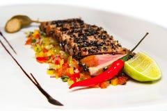 Bakad fransyska av tonfisk Royaltyfria Bilder