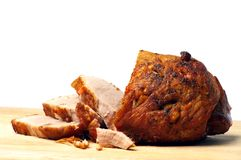 bakad kall pork Arkivfoto