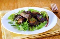 bakad meat Royaltyfri Foto