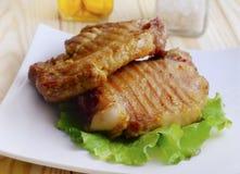 bakad meat Royaltyfri Fotografi