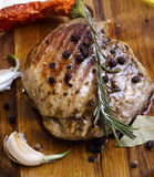 bakad meat Arkivfoton