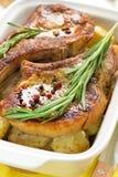 Bakad meat Fotografering för Bildbyråer