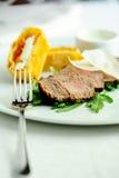 Bakad meat Royaltyfri Bild