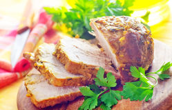 Bakad meat Arkivbild