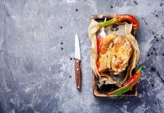 Bakad meat med kryddor Royaltyfri Foto