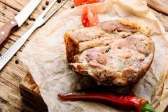 Bakad meat med kryddor Royaltyfria Foton