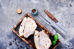 Bakad meat med kryddor Arkivbild