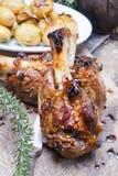 Bakad meat, porkknoge Royaltyfria Bilder