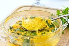 Bakad omelett Royaltyfria Bilder