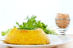 Bakad omelett Arkivfoton