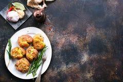 bakad potatis Royaltyfri Fotografi