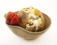 Bakad potatis royaltyfria bilder