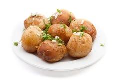 bakad potatis arkivfoto