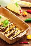 bakad tacos Arkivbild