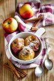 Bakade äpplen Fotografering för Bildbyråer