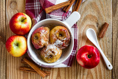 Bakade äpplen Royaltyfri Fotografi