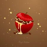 Bakade Apple vektor illustrationer