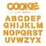 Bakade bokstäver  vektor illustrationer