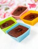 Bakade chokladmuffiner Royaltyfri Bild
