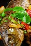 bakade fiskgrönsaker Royaltyfria Foton