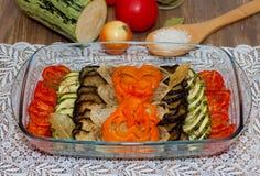 Bakade grönsaker Arkivfoto