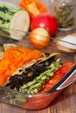 Bakade grönsaker Arkivbild