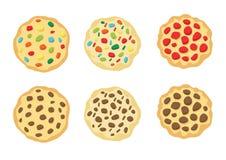 Bakade kakor på den vita bakgrundsillustrationvektorn stock illustrationer