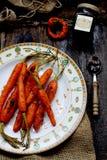 bakade morötter Arkivfoto
